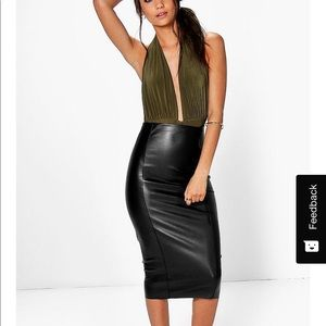 ❤️ leather skirt for a tall person!